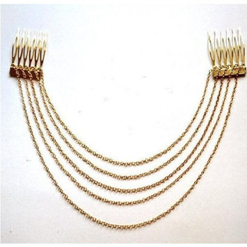 Susen New 1x Rock Punk Women Long Silver Gold Tassel Hair Accessory Tuck Comb Hairpin Clip