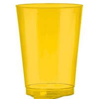 Amscan 350363.09 Sunshine Yellow Plastic Cups - Pack of 432
