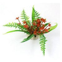 Aquarium Fish Bowl Landscaping Water Plant Ornament Green Red 3.5