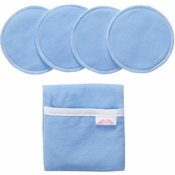 Nuangel Flip and Go Nursing Pad Case with Four Matching Pads - Blue