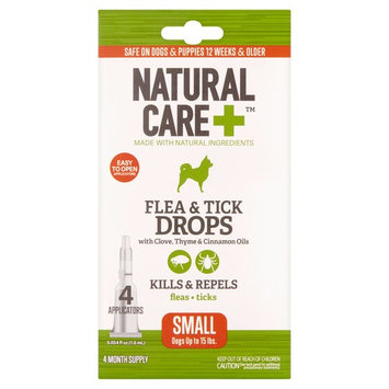 Natural Care+ Flea & Tick Drops with Clove, Thyme & Cinnamon Oils, 0.054 fl oz, 4 count