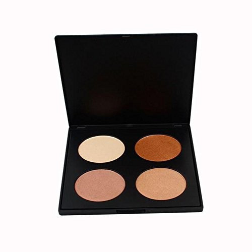 IS'MINE Contour series - Tan to Dark powder contour kit / 4 colors contouring and highlighting makeup palette
