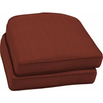 Better Homes and Gardens Outdoor Wicker Seat Cushions Red Stria, Set of 2