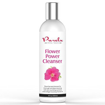 Rose Hip Seed Oil Face Cleanser - Face Wash - Vitamins A, C, E & F - Gently Washes Off Makeup, Dirt and Oils