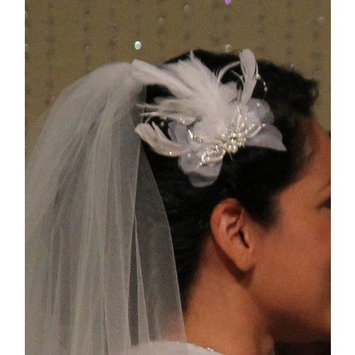 Vintage Feather Fascinator Headpiece IVORY Bridal Hair Accessories