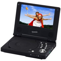 Supersonic SC-178DVD 7-inch Portable DVD Player w Swivel Screen