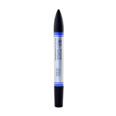Winsor & Newton Water Colour Markers mid blue, 401 [pack of 3]