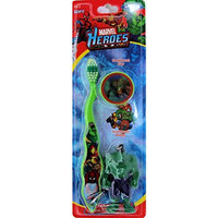Marvel Heroes Avengers Toothbrush with Cap and Keychain Mini Figure ~ Spiderman, Hulk, Iron Man, Wolverine
