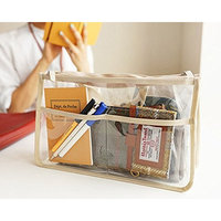 Youndcc Clear Tote Bag, Briefcase, Cosmetic Bag, Makeup Bag, Transparent, Waterproof, NFL Stadium Approved, Great for Work, Events, Makeup and...