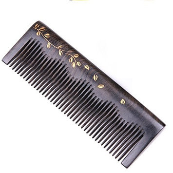 Handmade Natural African Chacate Preto Wood Medium Tooth Massage Hair Comb, Anti Static Pocket Wooden Comb 5.3