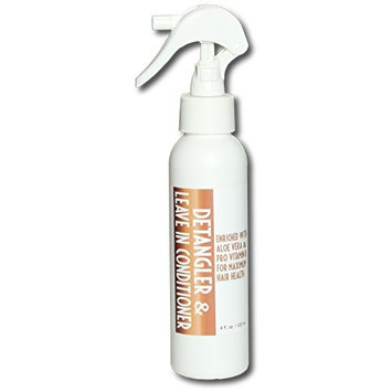 Detangler and leave in hair conditioner 4 ounce spray