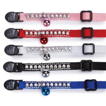 Petedge ZW322 95 East Side Collection Rhinestone Cat Collar White