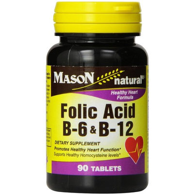 Mason Natural Folic Acid, B-6 & B-12 Tablets 90 ea