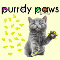 Purrdy Paws Soft Nail Caps for Cats 40pk - Neon Yellow Large