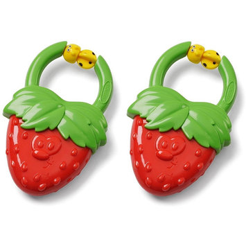 Infantino Vibrating Teether - Strawberry, 2 Count