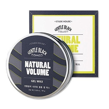 Etude House Men's Gentle Black NATURAL VOLUME GEL WAX 65g Strong Hold Medium Shine
