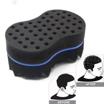 RioRand Magic Twist Hair Brush Curl Sponge Tornado Locking Afro Curling Coil Comb Hair Care Tool(10mm Hole)