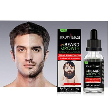 HP95(tm) Beard Growth Oil ,Men Liquid Beard Growth Fast Enhance Facial Whiskers Nutrition Moustache,Pure and Natural Essential Oils (B)