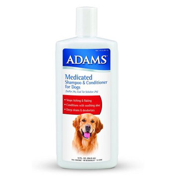 Adams Medicated Shampoo 12oz