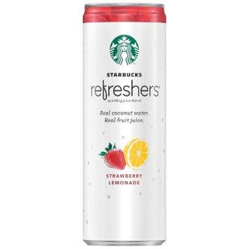 Starbucks Refreshers Strawberry Lemonade Sparkling Green Coffee Energy Drink - 12 fl oz Can