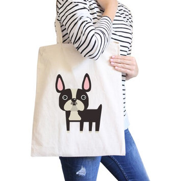 365 Printing Inc French Bulldog Natural Canvas Bags Gifts For French Bull Dog Owner