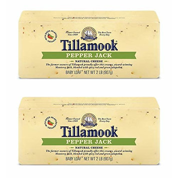 Pack of 2 Tillamook Pepper Jack Cheese 2 lb Loaves