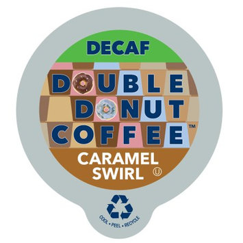 Double Donut Decaf Flavored Coffee Caramel Swirl Flavored Coffee Single Serve Cups For Keurig K Cup Brewer, 80 Count