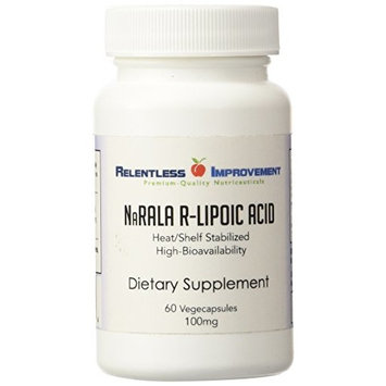Relentless Improvement NaRALA R-Alpha-Lipoic Acid | 100mg ACTIVE From 125mg TOTAL FILL