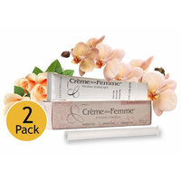 Crème De La Femme 2-Pack, Natural Vaginal Moisturizing Cream for Feminine Dryness, Estrogen-Free, Safe Lubricant, Free Applicator Included