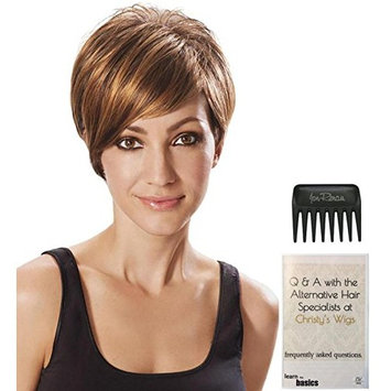 Angled Cut Wig by Hairdo, 15 Page Christy's Wigs Q & A Booklet & Wide Tooth Comb COLOR SELECTED: R4