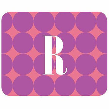 Custom Personalization Solutions Personalized Purple Polka Dots Mouse Pad