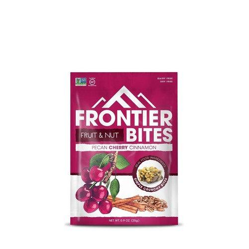 Frontier Gluten Free Single Serve Snack Bites, Pecan Cherry Cinnamon, 8 Count [Pecan Cherry Cinnamon]