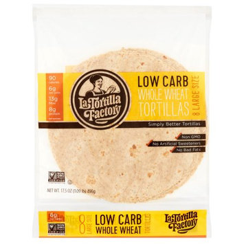 Wal-mart Stores, Inc. La Tortilla Factory, Tortilla Flour Wholewheat Lrg, 17.5 Oz (Pack Of 12)
