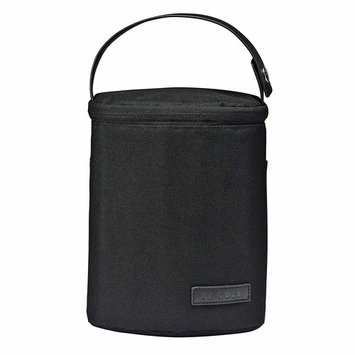 JJ Cole - Bottle Cooler, Insulated Interior for 2 Large Bottles or Sippy Cups, Included Freezer Pack, Exterior Pocket, Easy Attach Handle, Blackout