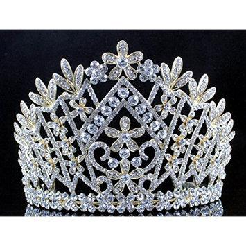 Janefashions Daisy Austrian Crystal Rhinestone Tiara Crown Bridal Prom Pageant T1861g G