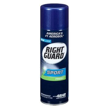 Right Guard Sport Antiperspirant & Deodorant Aerosol Fresh 6.0 oz.(pack of 4)