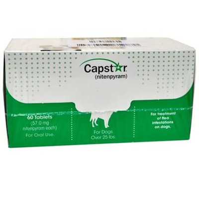 CAPSTAR Green FAST ACTING for Dogs Over 25 lbs. [Options : 60 Tabs]