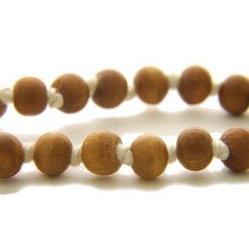Prabhujis Gifts Prayer Mala Beads - Sandalwood - 108 Prayer Beads
