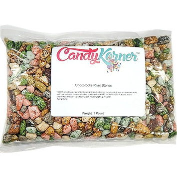 Chocorocks Riverstones Nuggets| Candy Coated Chocolate Shaped River Stones | 1 Pound ( 16 OZ )