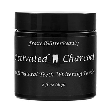 FrostedGlitter Beauty Natural activated charcoal teeth whitening