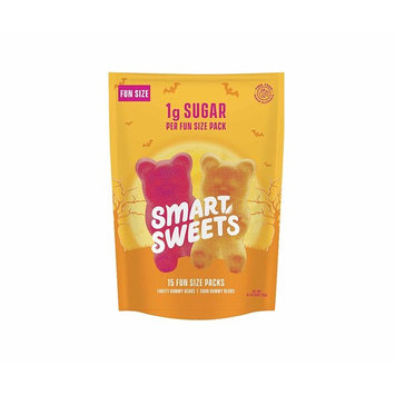 SmartSweets Low Sugar Gummy Bears Candy, Fruity and Sour, 0.34 Ounce Fun Size Packs, Free of Sugar Alcohols and No Artificial Sweeteners, Sweetened with Stevia, Natural Fruit Flavors, 15 Count [Fruity and Sour Bears]