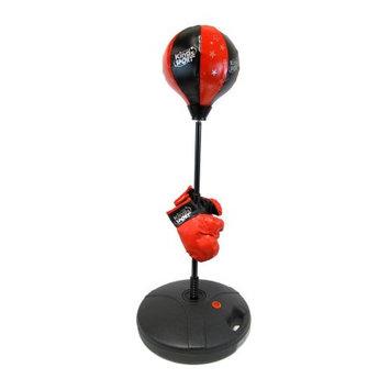 Velocity Toys Pro Kid Boxer Children's Beginning Freestanding Reflex Punching Bag w/ Pair of Gloves, Adjustable Height 35 - 50