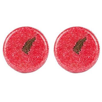 Frcolor 2pcs Cinnamon Solid Shampoo Bar Hair Growth Soap Bar for Hair Loss Cleaning (Red)