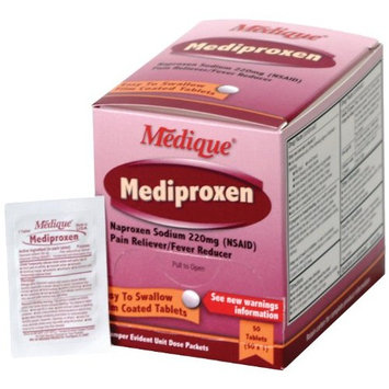 Medique Products 23750 Mediproxen, 50-Packets of 1, Pain Reliever Fever Reducer