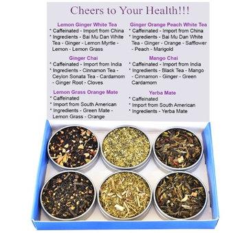 Chinese Tea Culture Tea Sampler - Mate - Ginger Chai - Mango Chai - White Tea - Chai - Silver Needle - Caffeinated - Gift Box - Tea - Loose Tea - Loose Leaf Tea