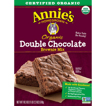 Annie's Homegrown Organic Double Chocolate Brownie Mix, 18.3 oz