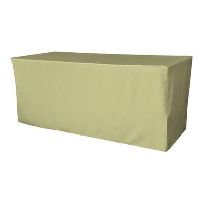 LA Linen TCpop-fit-72x24x30-SageP19 2.1 lbs Polyester Poplin Fitted Tablecloth Sage