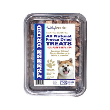 Healthy Breeds 840235147510 10 oz Akita All Natural Freeze Dried Treats Beef Liver