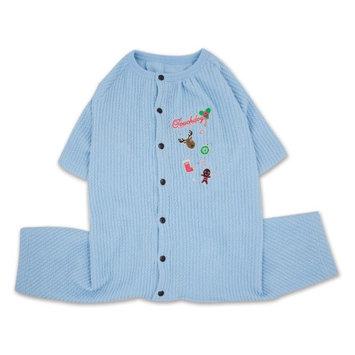 Touchdog Ciesta-Luxe Designer Thermal Dog Jumpsuit Pajamas Blue