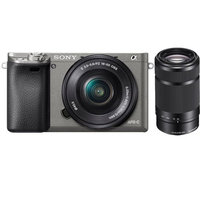 Sony Alpha a6000 Mirrorless Camera w/ 16-50mm & E 55-210mm Lens (Graphite)